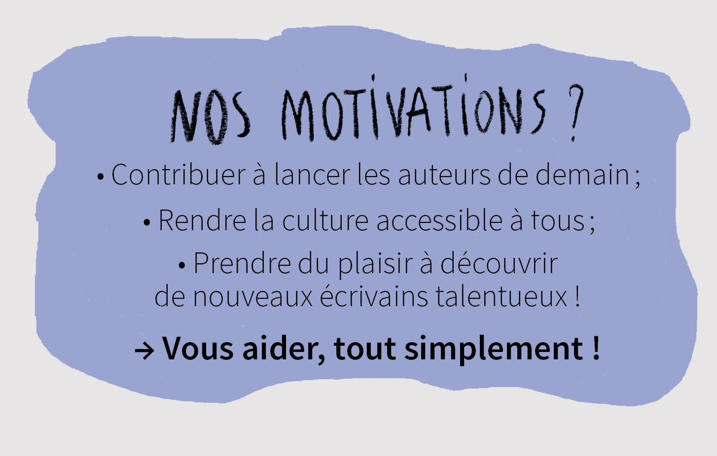 Les motivations de ReadMyBook ?
