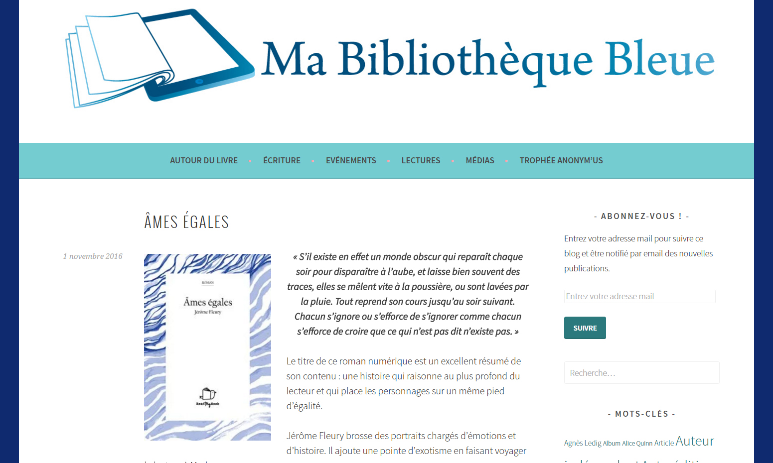 Ma Bibliothèque Bleue : Âmes égales