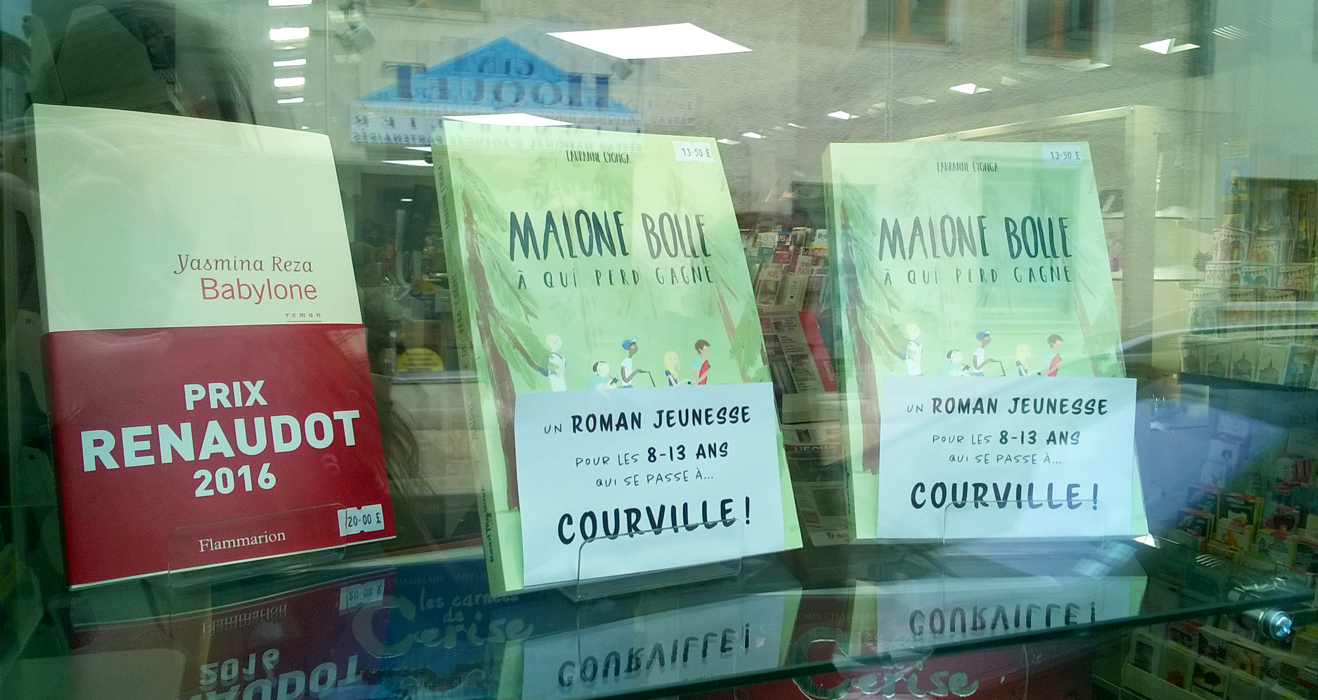 Malone Bolle en librairie à Courville