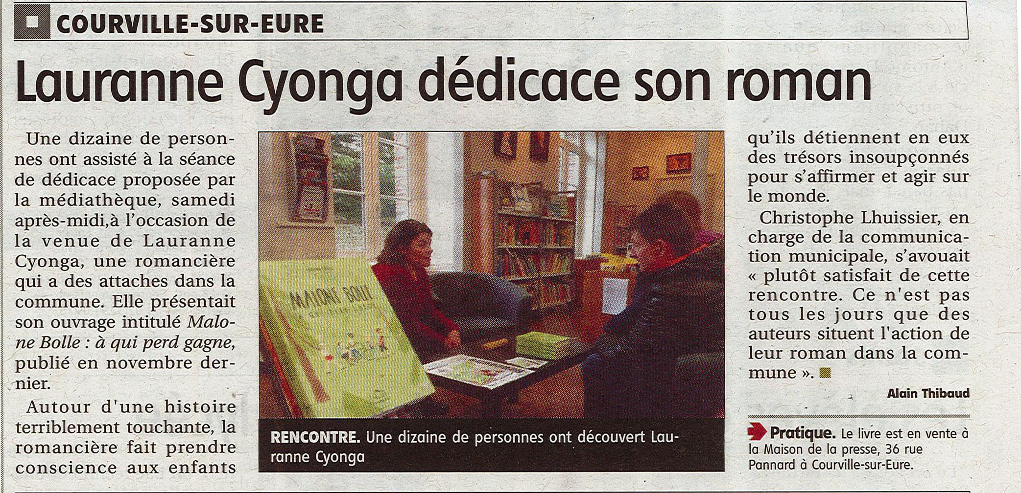 Rencontre Lauranne Cyonga à Courville sur Eure