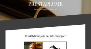 Prestaplume : ReadMyBook, un nouvel éditeur papier