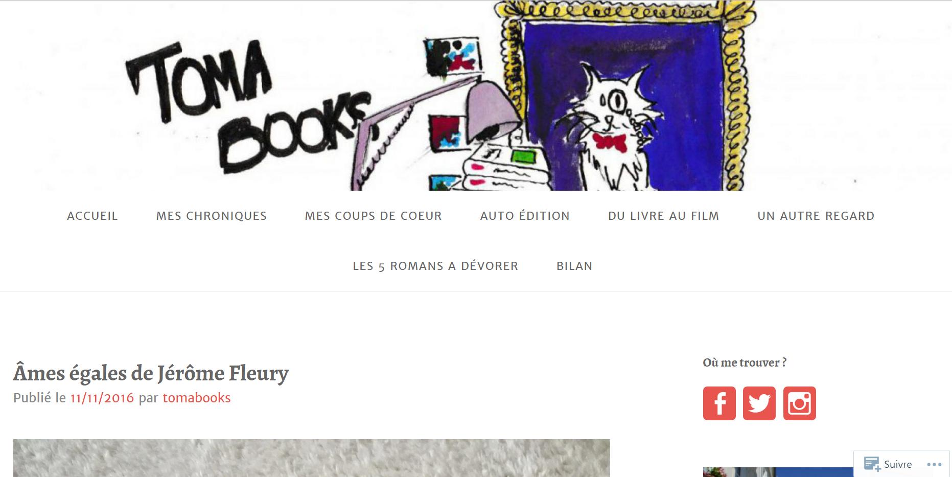 TomaBooks : Âmes égales, de Jérôme Fleury
