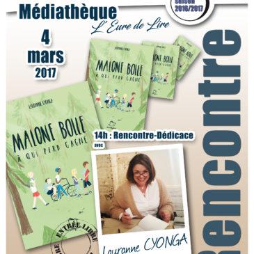 Rencontre avec Lauranne Cyonga à Courville-sur-Eure