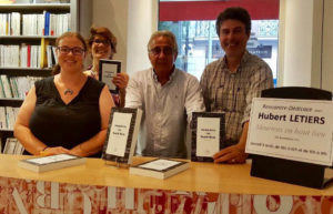 L'équipe de la Librairie Massena et Hubert Letiers