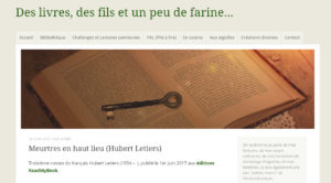 Des livres, du fil et un peu de farine : Meurtres en haut lieu