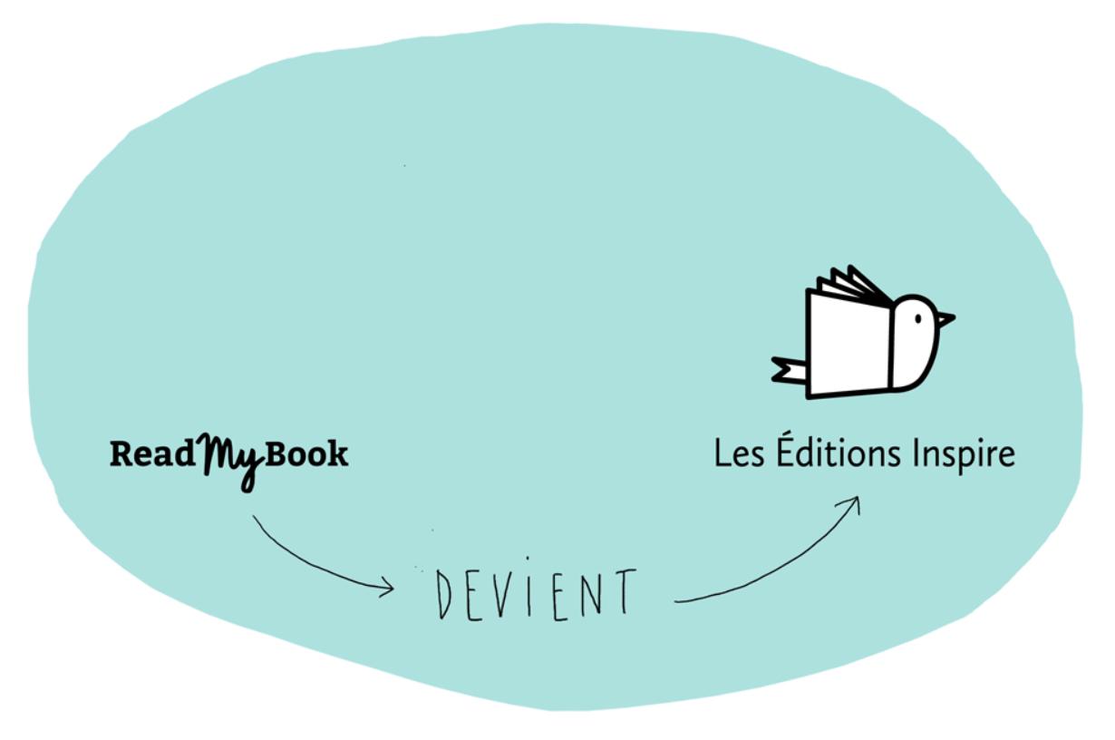 ReadMyBook devient Les Éditions Inspire