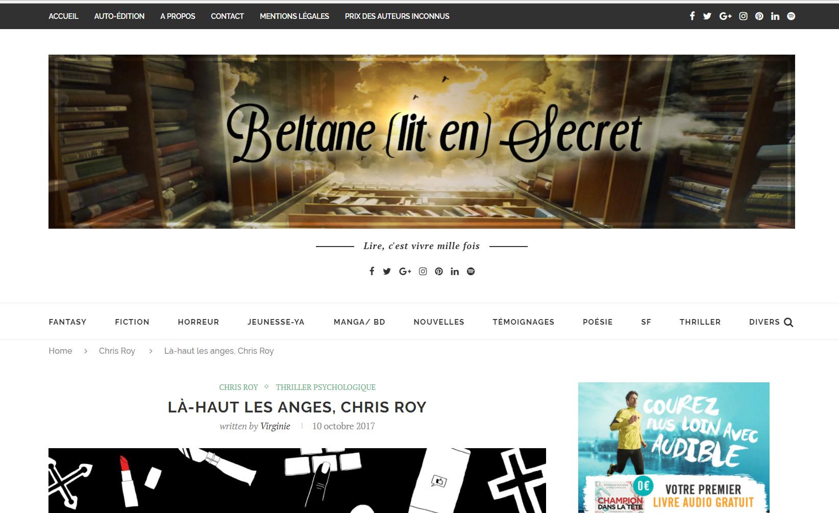 Beltane lit en Secret : Là-haut les anges
