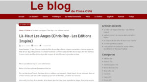 Prose Café : Là-haut les anges, Chris Roy