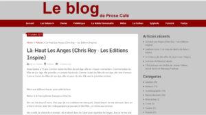 Prose Café : Là-haut les anges, Chris Roy