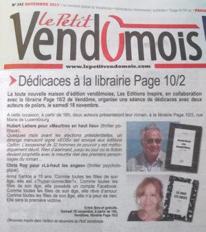 Le Petit Vendômois : dédicace à la librairie Page 10/2