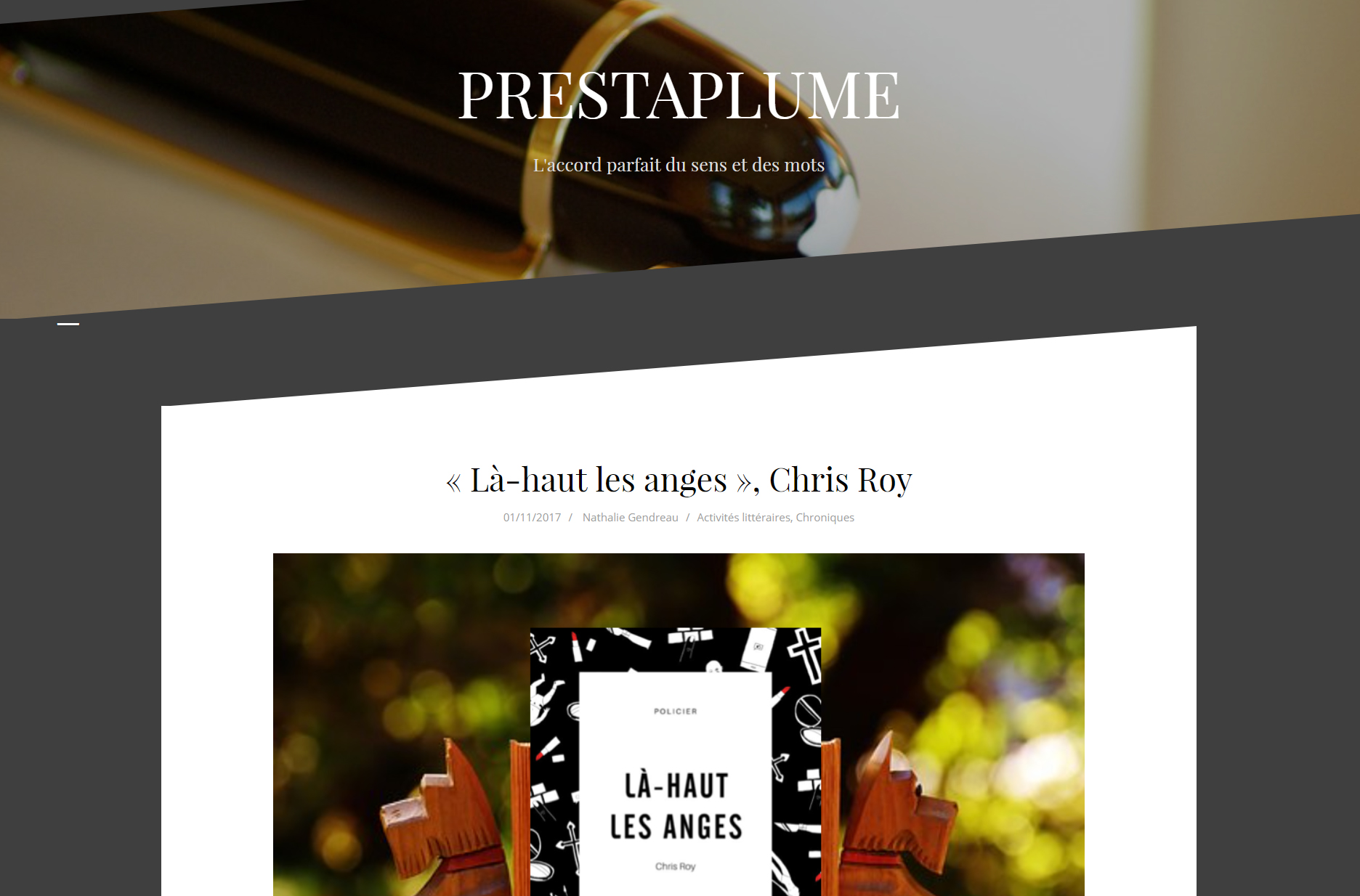 Prestaplume : Là-haut les anges, Chris Roy