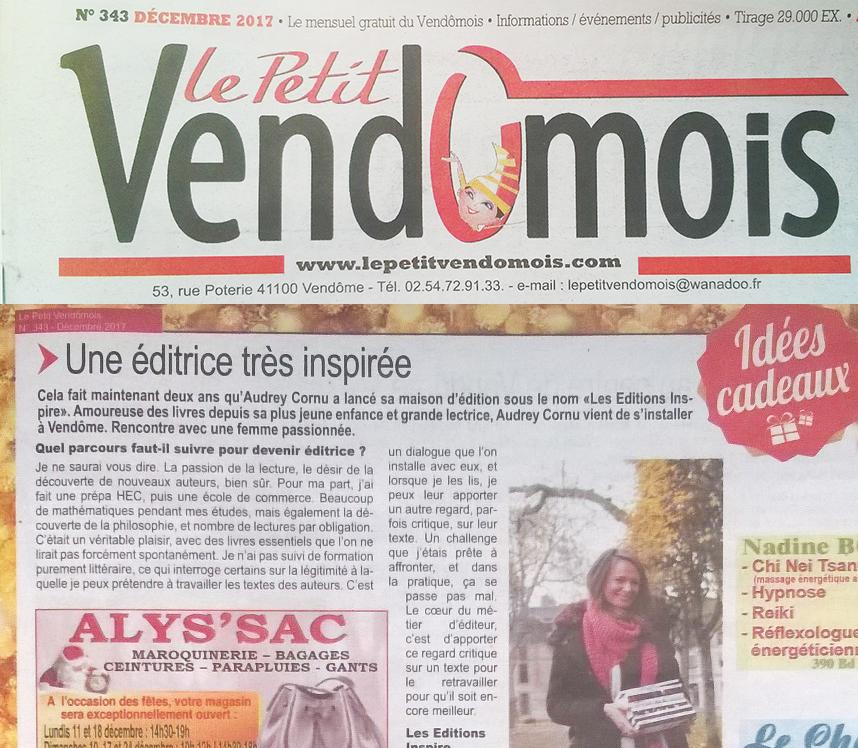 """Le Petit Vendômois de décembre : """"une éditrice très inspirée"""""""