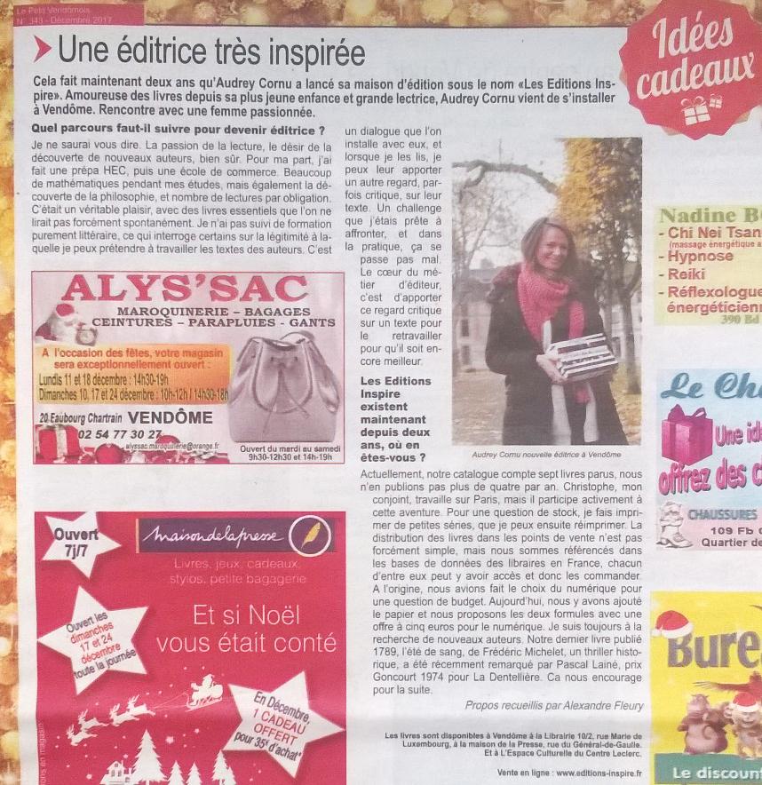 Article Petit Vendômois décembre 2017
