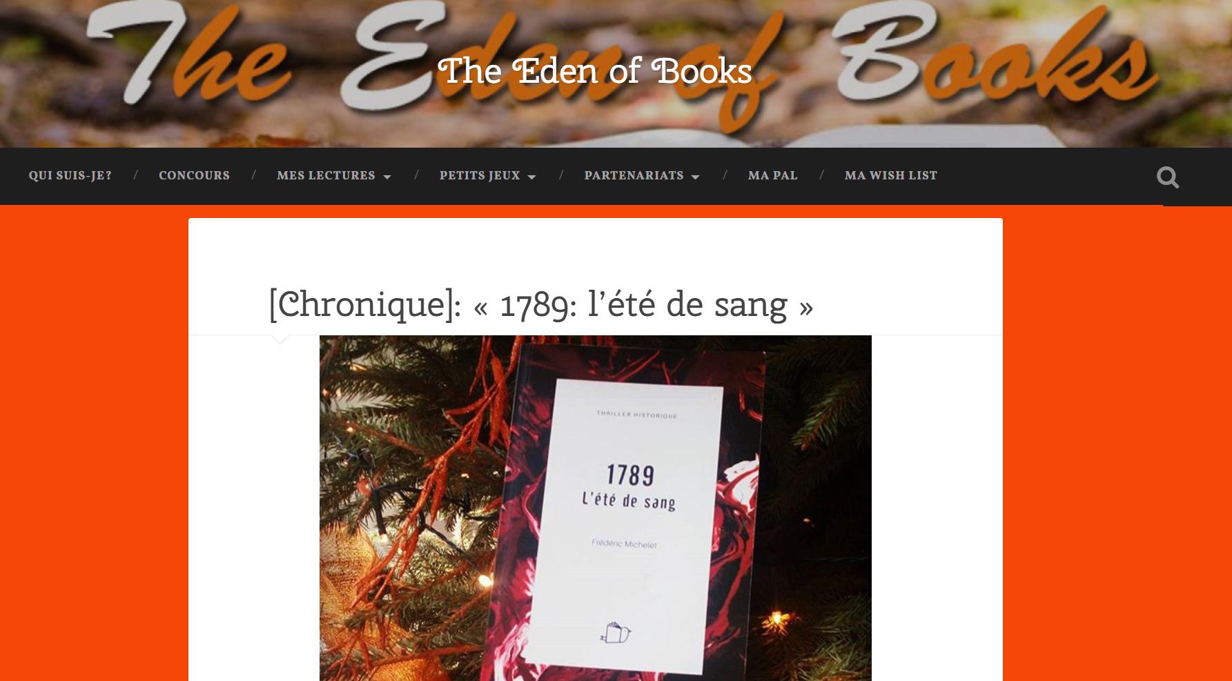 The Eden of Books : 1789, l'été de sang