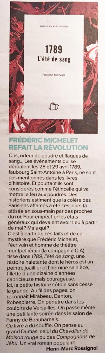 La gazette de Montpellier : 1789, l'été de sang