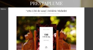 Prestaplume : 1789, l'été de sang - Frédéric Michelet