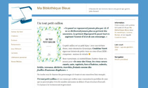 """Ma bibliothèque bleue : """"Un tout petit caillou"""""""