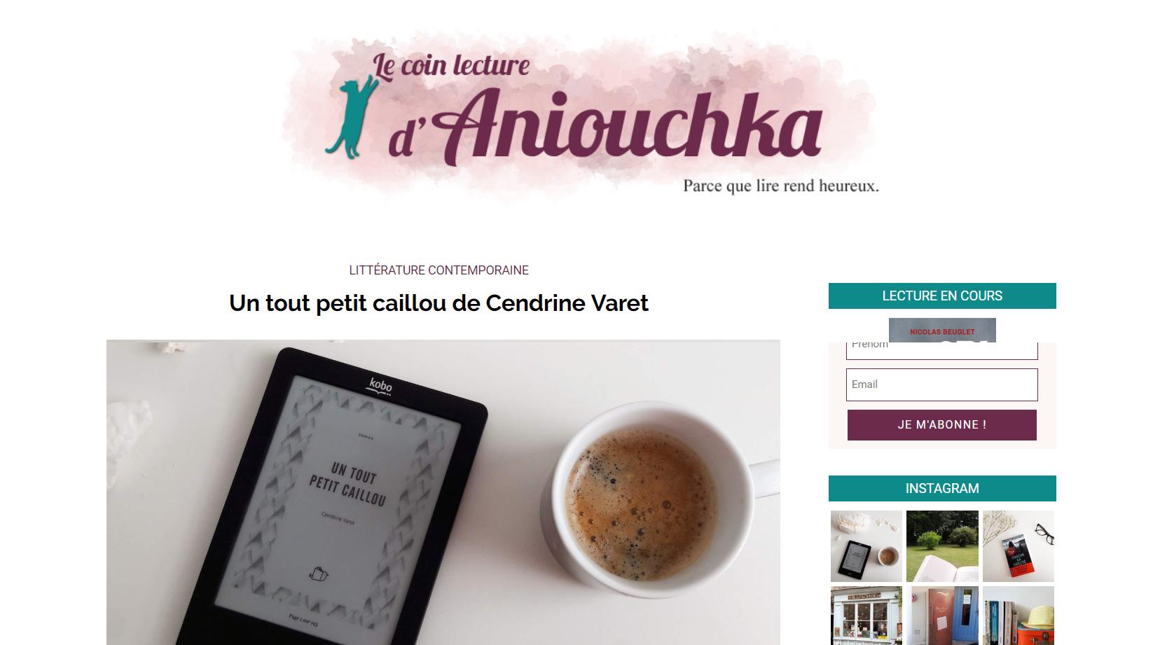 Le coin lecture d'Aniouchka : Un tout petit caillou