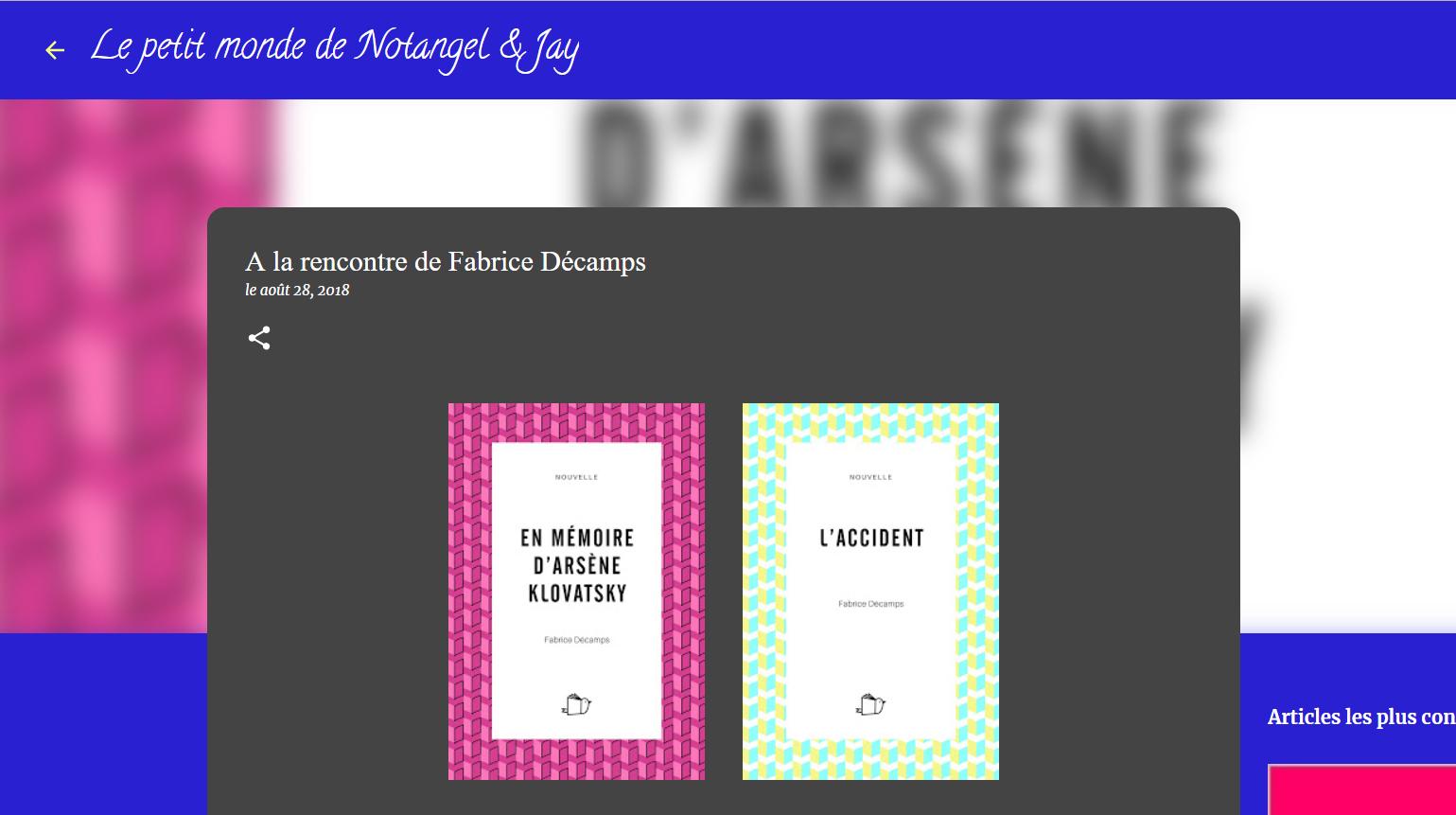 Phoenix Books : Les nouvelles de Fabrice Décamps