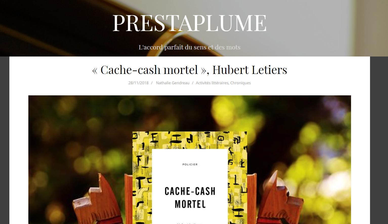 Prestaplume, Cache-Cash Mortel