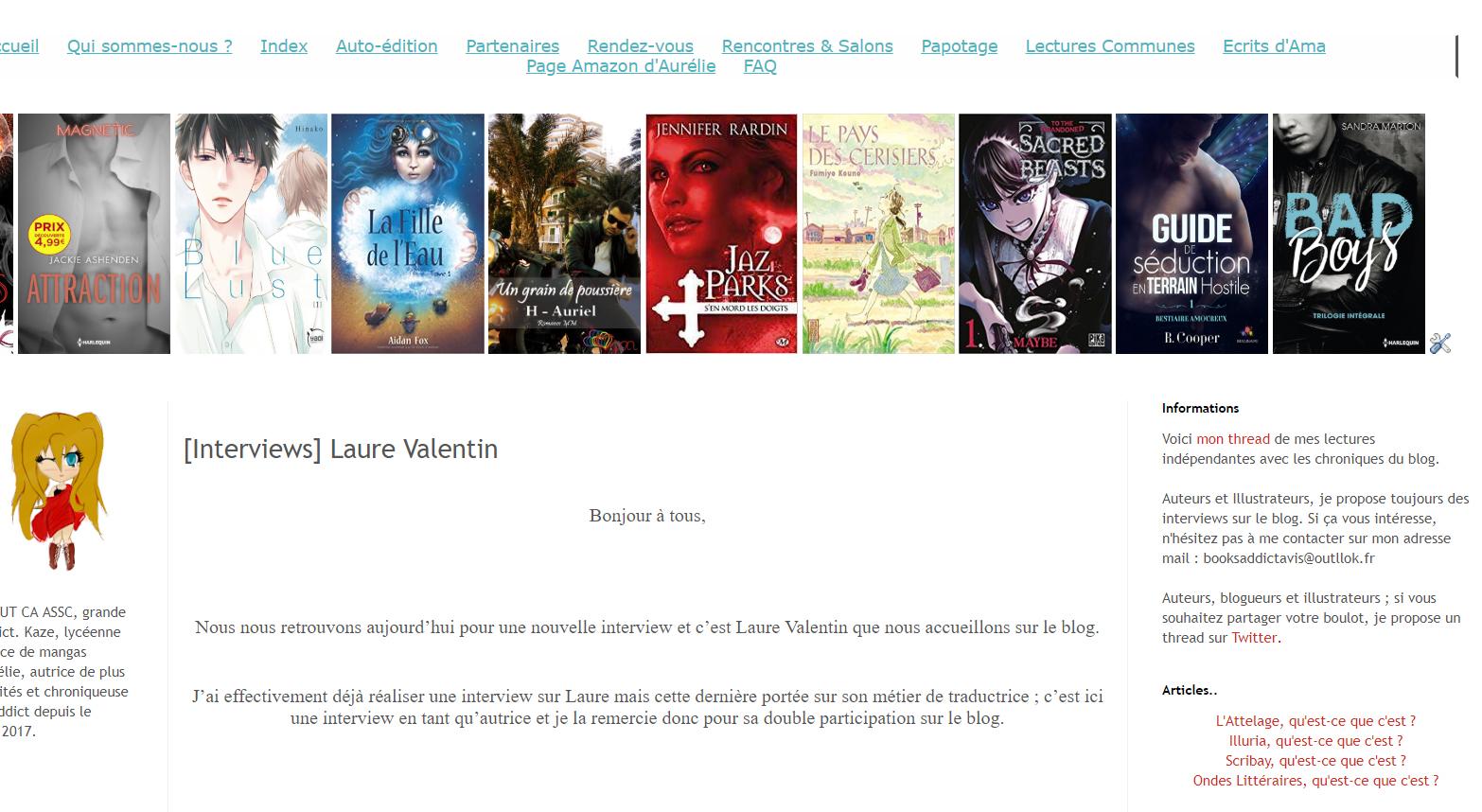 L'interview de Laure Valentin par Amabooksaddict
