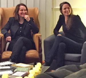 Cendrine Varet et Audrey Cornu à la Nuit de la Lecture à Courville