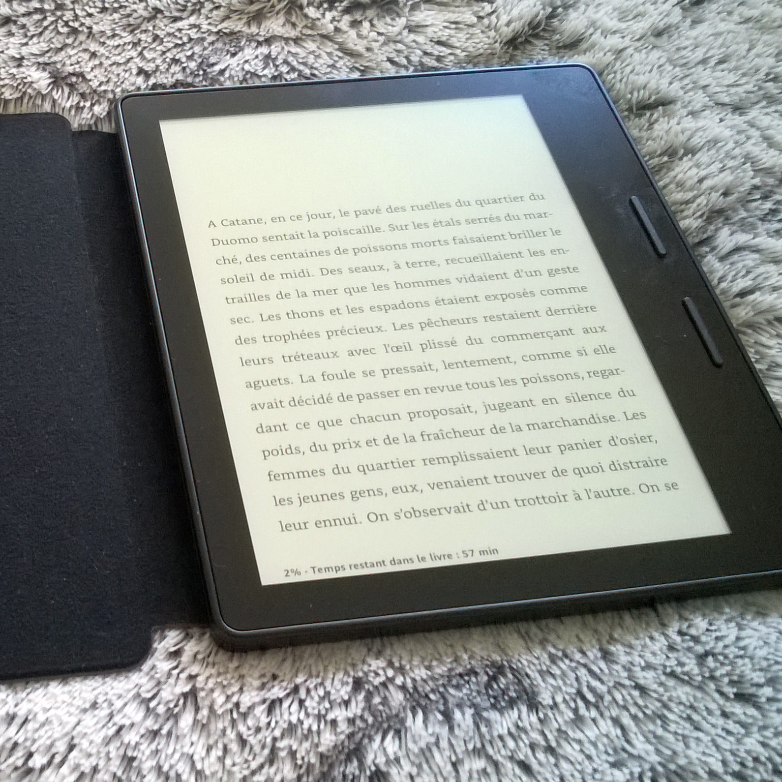 Kindle Oasis, texte